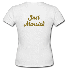 T shirt Just Married